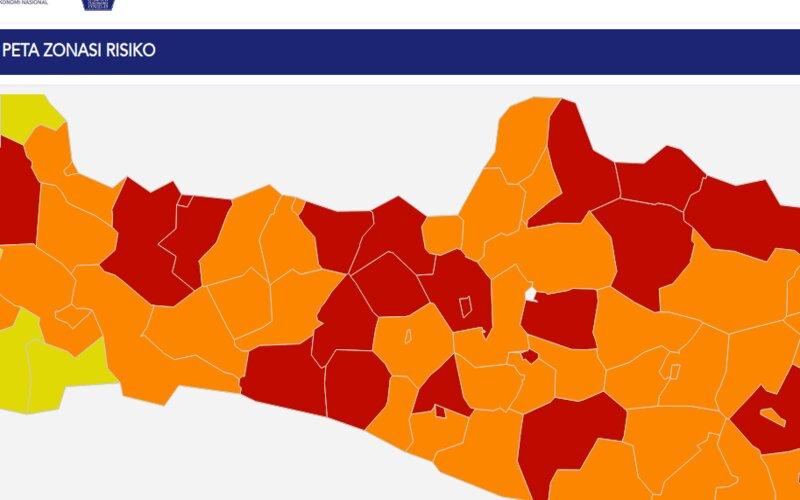 21 Wilayah di Jateng Zona Merah Penyebaran Covid-19